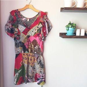 Anthropologie Pinkerton | Quilted Silk Sheer Dress
